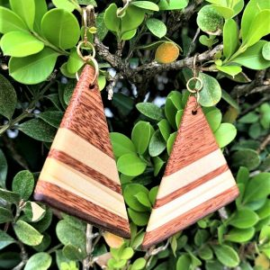 Sapele Sail earrings By Joe