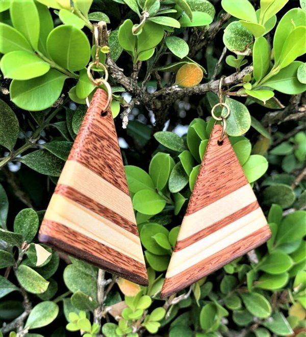 Sapele Sail earrings By Joe
