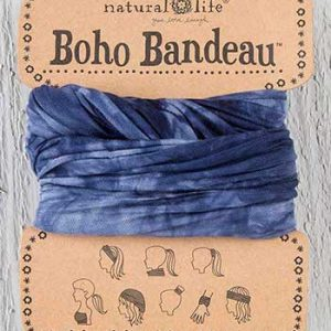 Boho Bandeau Deep Navy  Tie Dye