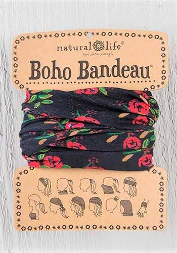 Boho Bandeau Black Floral