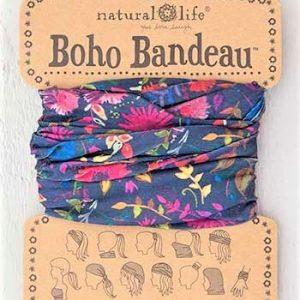Boho Bandeau Navy Wildflowers