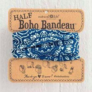 Half Boho Bandeau Navy Cream Mandala