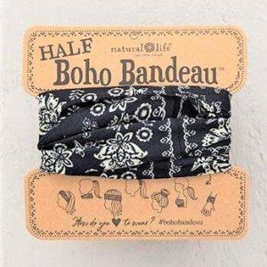 Half Boho Bandeau Black Cream Mandala