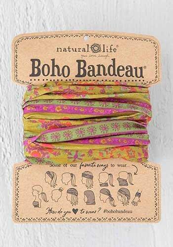 Boho Bandeau Red/Pink Flower Medallion