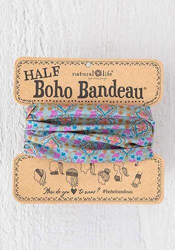 Half Boho Bandeau Turquoise Orange Stamp