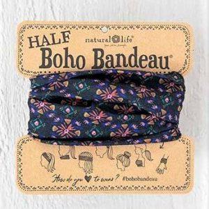 Half Boho Bandeau Black Multi Burst