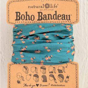 Boho Bandeau Turquoise Floral Print
