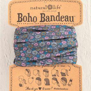 Boho Bandeau Grey Daisy Floral Print