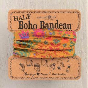 Boho Bandeau -Mustard Floral