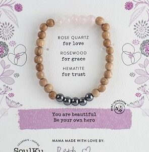 "Rose Quartz ""Be Love"" Be Your Own Hero Bracelet"