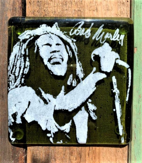 Bob Marley Single Glass Coaster