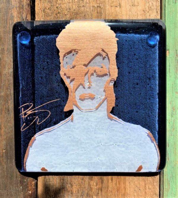 David Bowie Alladin Sane Single Glass Coaster
