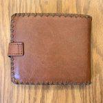 Paisley Floral  Vegan Leather Medium Embroidered Wallet -Caramel Brown Multi