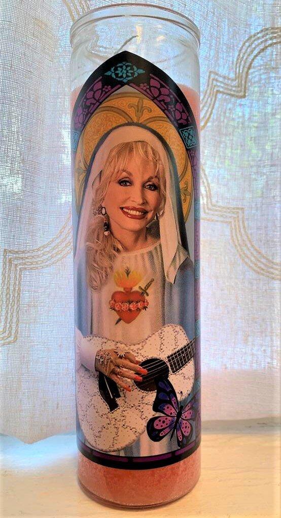 Dolly Parton Icon Candle