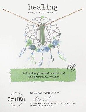 Green Aventurine Dream Catcher Necklace for Healing