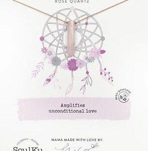 Rose Quartz Dream Catcher Necklace for Love