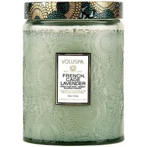 Voluspa French Cade and Lavender Large Glass Jar Candle