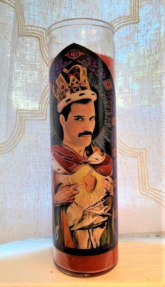 Freddie Mercury  Icon Candle