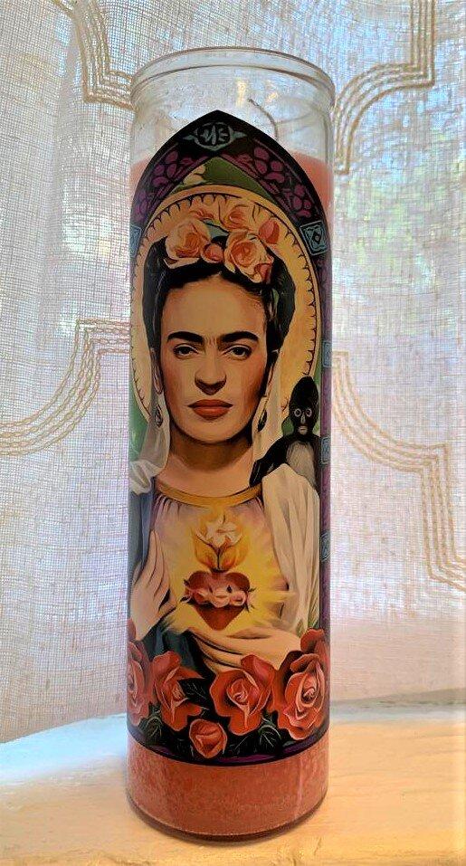 Frida Kahlo Icon Candle