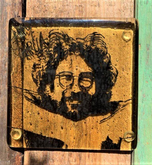 Jerry Garcia Single Glass Coaster