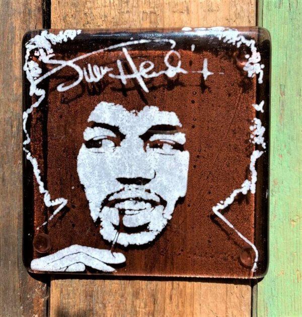 Jimi Hendrix Single Glass Coaster