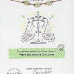 Libra Zodiac Necklace with Prehnite Gemstones