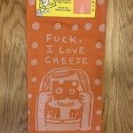 Fuck, I Love Cheese Woven Dish Towel