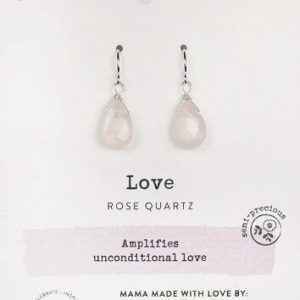 Rose Quartz Gemstone Soul-Full of Light Earrings for Unconditional Love