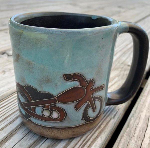 Motorcycle- Stoneware By Mara Mug