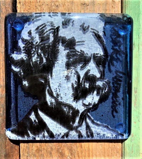 Mark Twain Single Glass Coaster