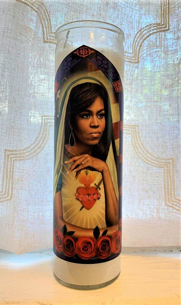 Icon Candle- Michelle Obama
