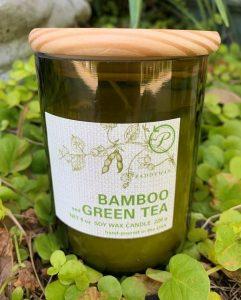 Paddywax Eco Green Candle- Bamboo & Green Tea