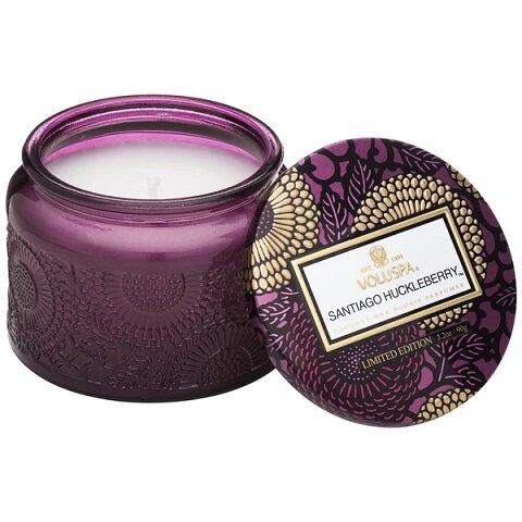 Voluspa Santiago Huckleberry Petite Glass Jar Candle