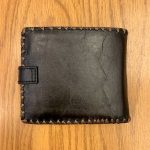 Paisley Floral  Vegan Leather Medium Embroidered Wallet -Black Multi