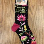You're Killing My Vibe Ladies' Crew Socks