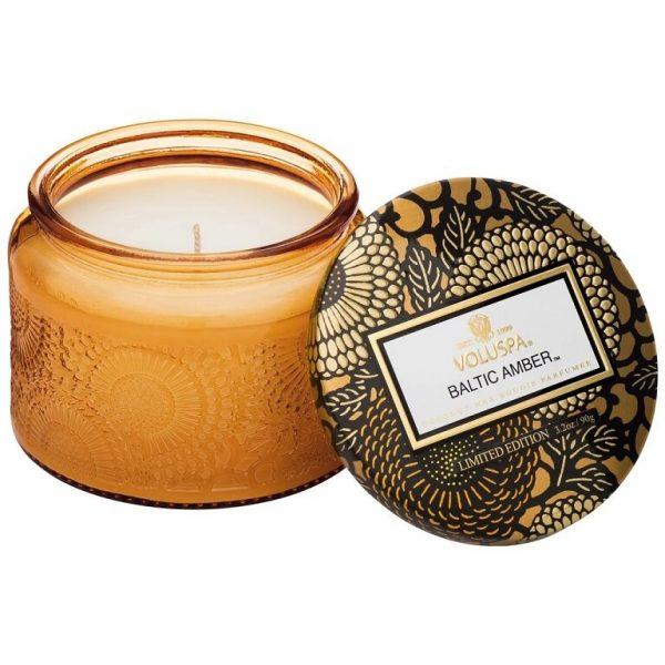 Voluspa Baltic Amber Petite Glass Jar Candle