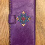 Pop Floral Vegan Leather Large Embroidered Wallet - Purple Multi