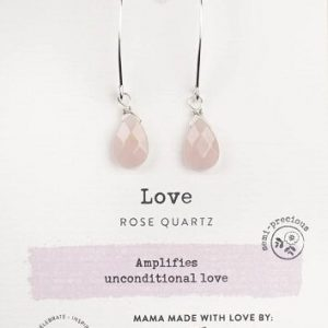 Rose Quartz Gemstone Soul-Full of Light Long Earrings for Unconditional LOVE