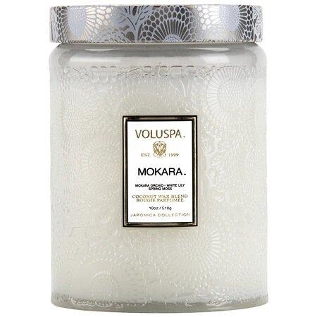 Mokara Large Glass Jar Candle