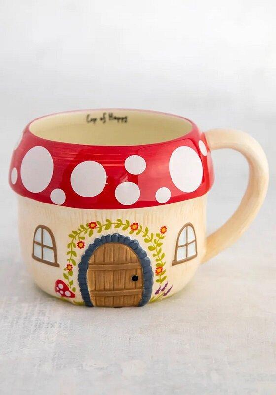 Mushroom House Folk Mug