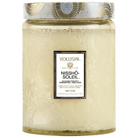 Nissho Soleil Large Glass Jar Candle