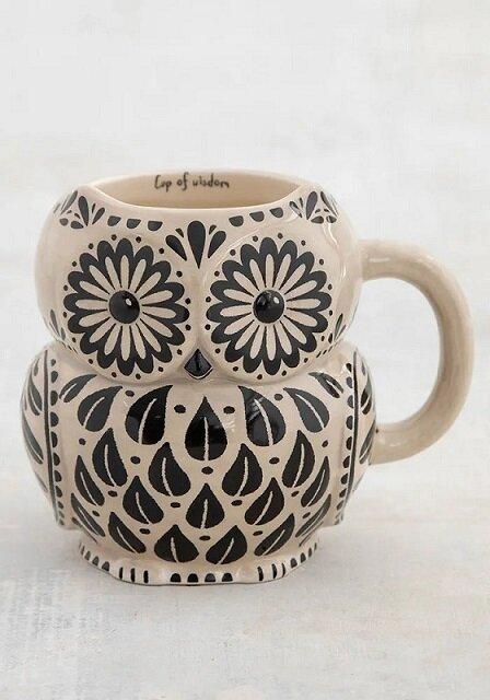 Wisdom Owl Folk Mug